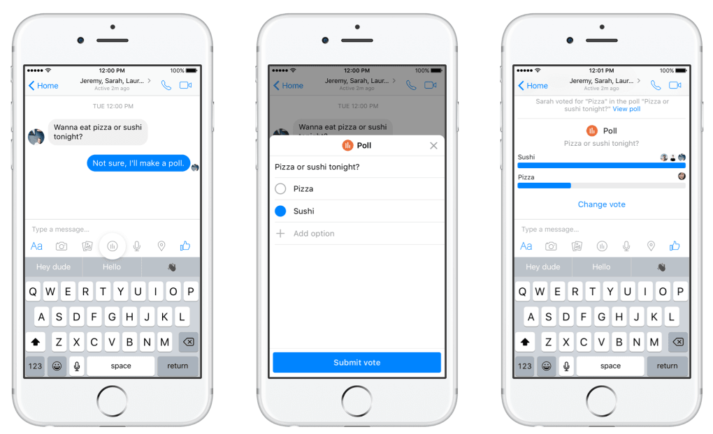 Facebook Messenger just made it easy to poll your friends