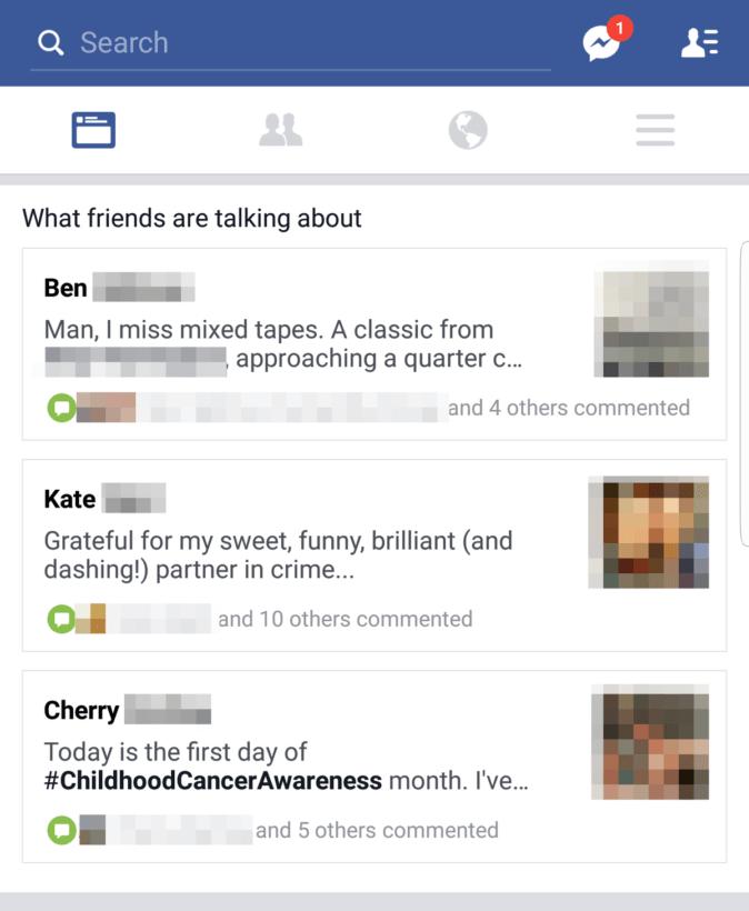 facebook test feature