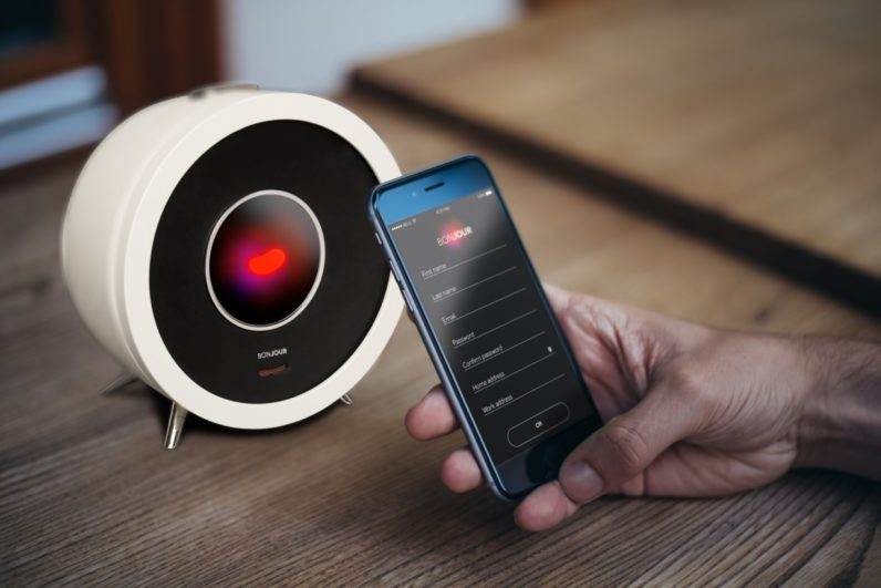Bonjour is a smart alarm clock powered by artificial intelligence
