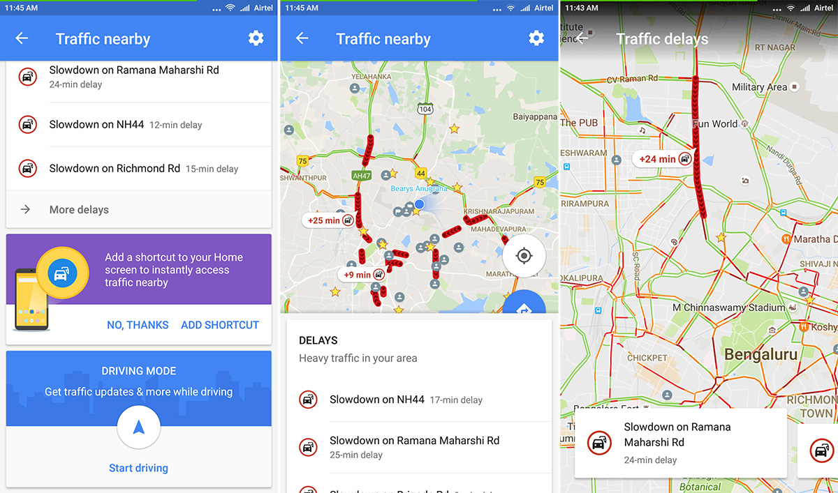 Real Time Internet Traffic Map.Google Maps For Android Adds A One Tap Shortcut To View Traffic