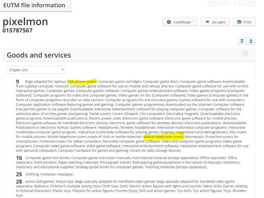 pixelmon-trademark-application