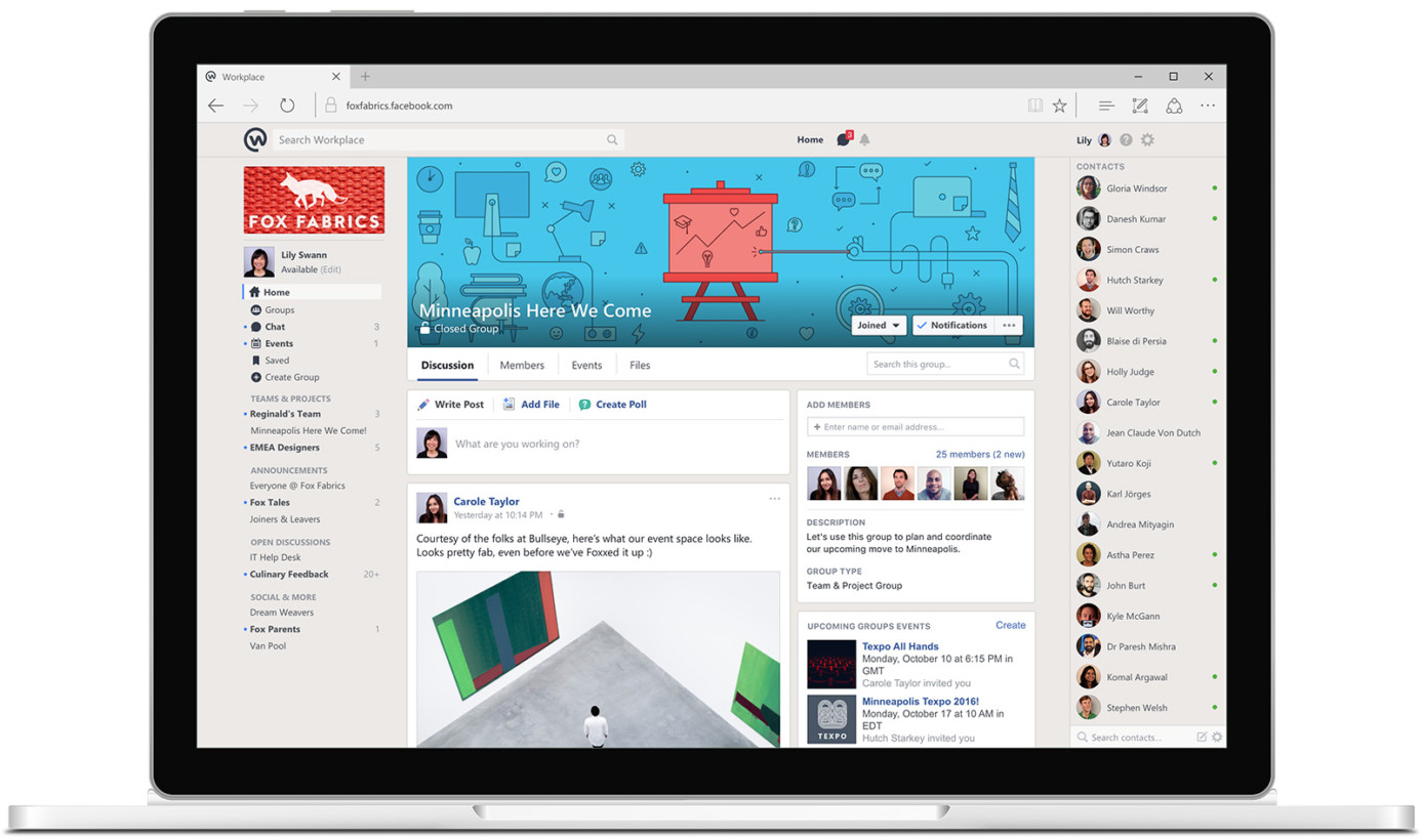 how to find friends on facebook by workplace