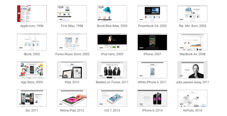Apple Timelapse: Watch 20 years of Apple.com's visual history in 3 minutes