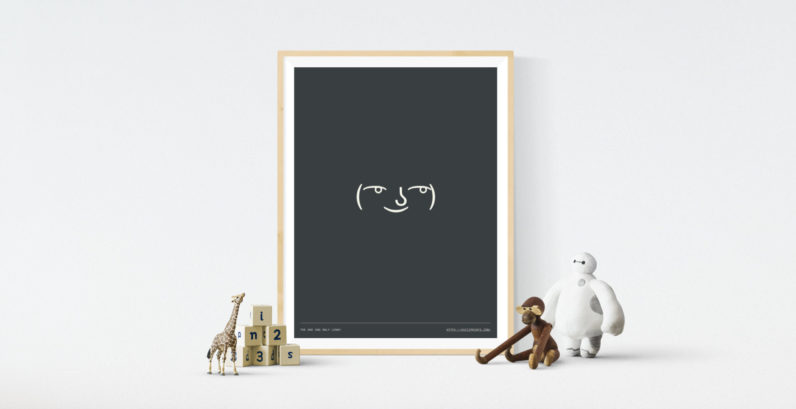 These ASCII art prints put some ¯\_(ツ)_/¯ on your wall