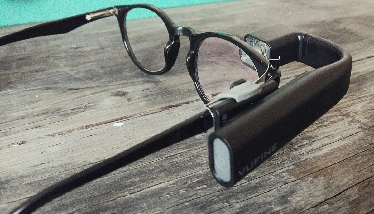 vufine-on-glasses-side-view