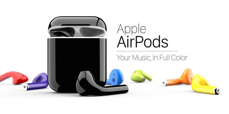 ColorWare offers custom-colored AirPods because earwax looks great on Jet Black