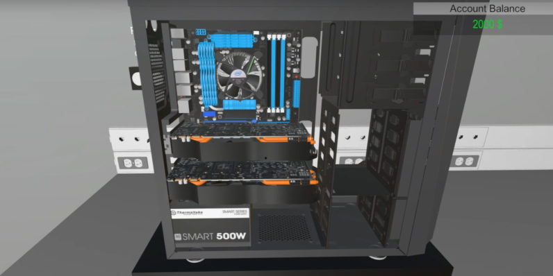 There's now a game in which you build your own gaming PC