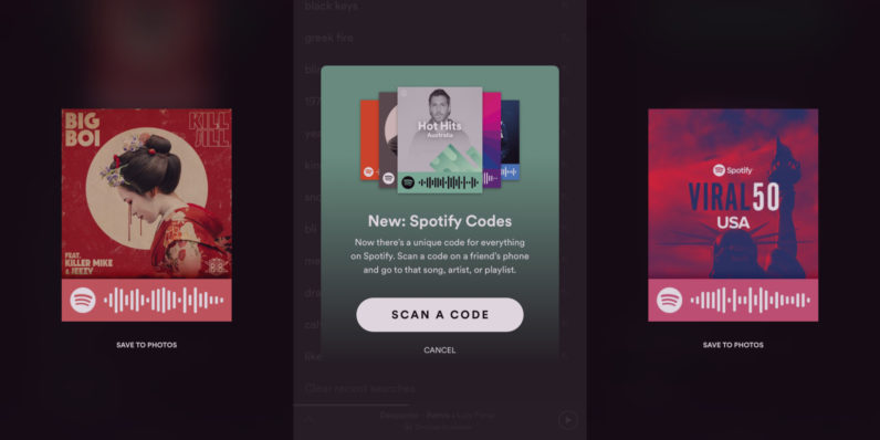 Spotify Codes bring Snapchat-like QR codes to music streaming