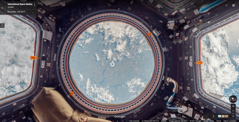 Google Street View is now in outer space too